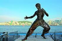 Socha Bruce Leeho v Hongkongu