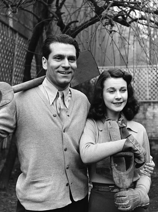 Laurence Olivier sVivien krátce po svatbě