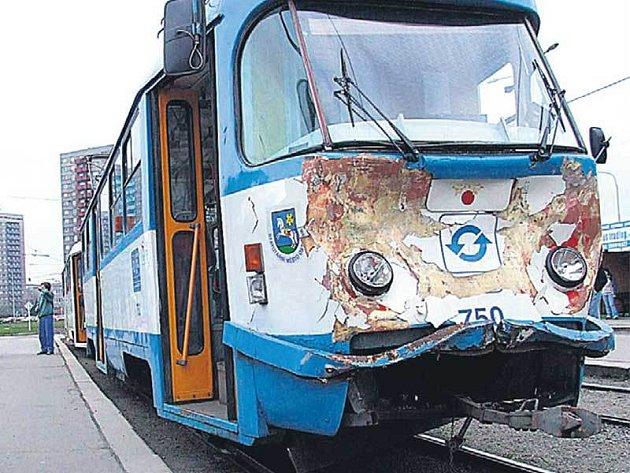 Poničená tramvaj