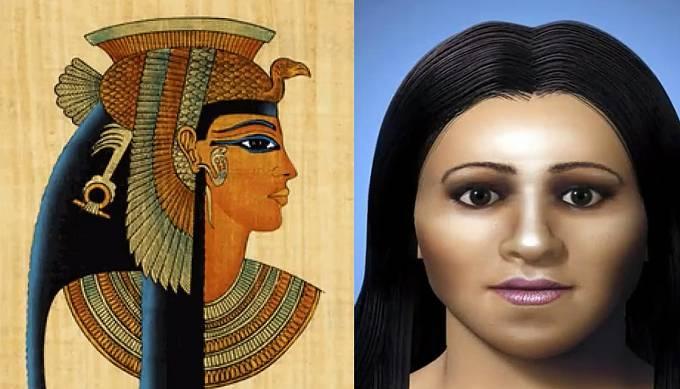 Kleopatra, vládkyně Egypta.