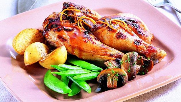 Grilované kuře s citrusy