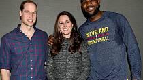 William a Kate se setkali s LeBronem Jamesem. A hned byl skandál na světě.
