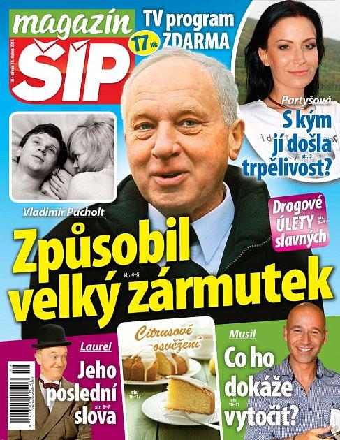 Titulní strana Magazínu Šíp 15.4.2015