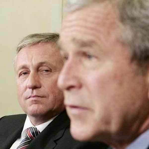 Mirek Topolánek a George Bush