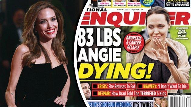 Angelina Jolie byla vždy hubená, ale nyní je to už extrém.