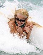 Lindsay Lohan a její vodní hrátky.