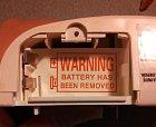 Pozor! Baterie byla vyndána.