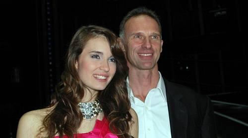 Dominika Hašek s dcerou