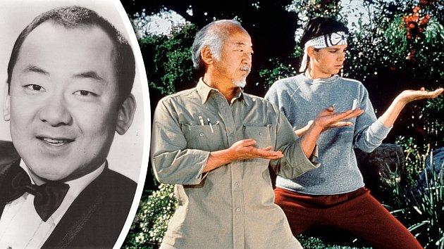Pat jako komik v 60. letech a potom ve své nejznámější roli v Karate Kidovi.