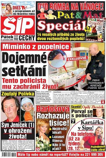 Titulka 21. 12. 2007