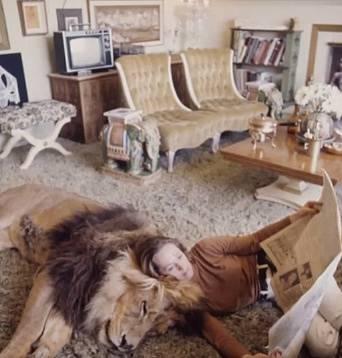 Tippi Hedren má za mazlíčka lva