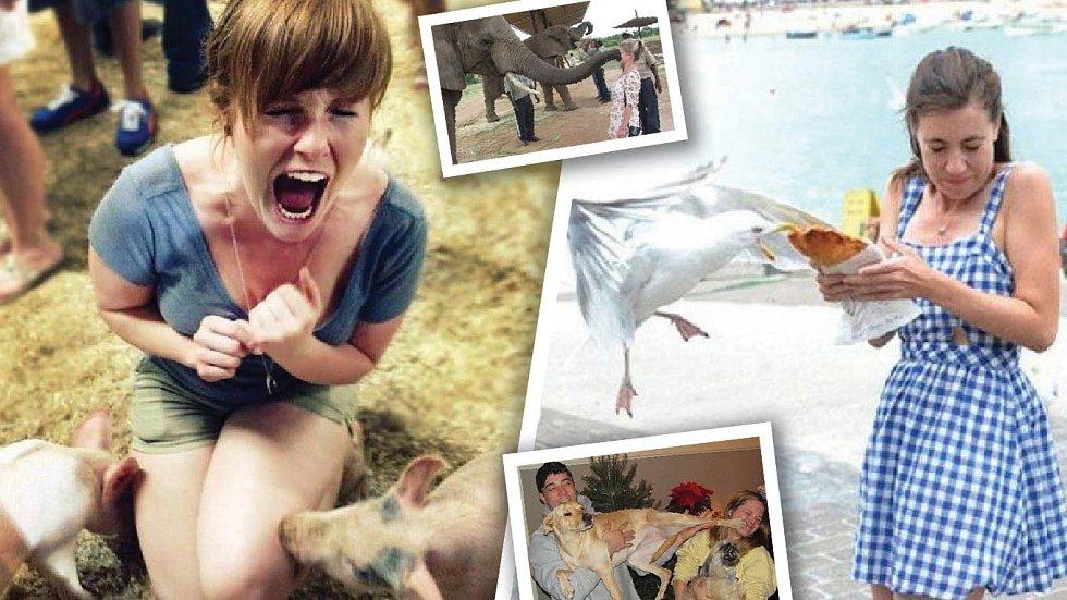 Když se něžná polovička lidstva setká se zvířetem, bývá to docela zábava.