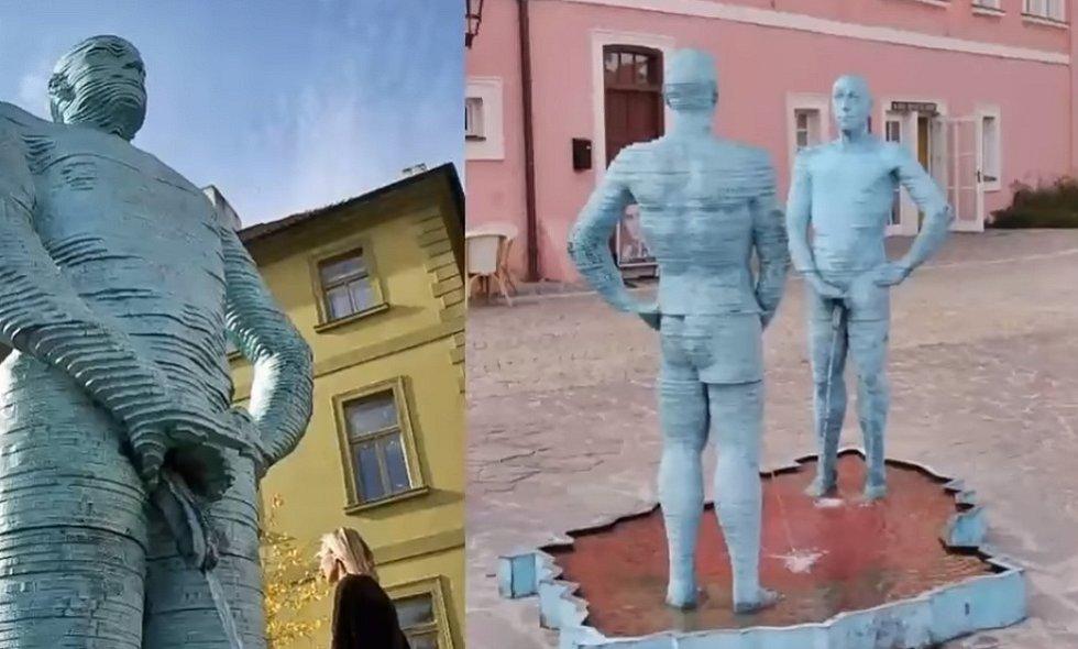 Sochy Davida Černého jsou bizarnost sama o sobě.