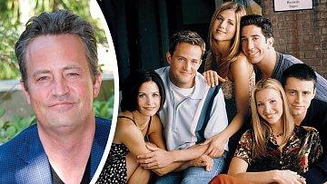 Matthew Perry nyní a v dobách, kdy válel v seriálu Přátelé.