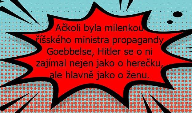 Lída Baarová měla pletky isAdolfem Hitlerem.