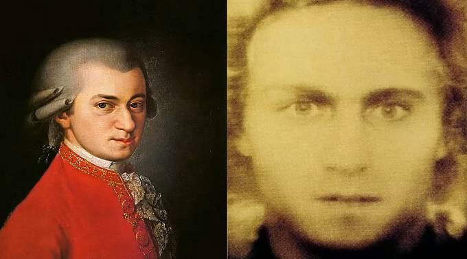 Wolfgang Amadeus Mozarta jeho reálná podoba.