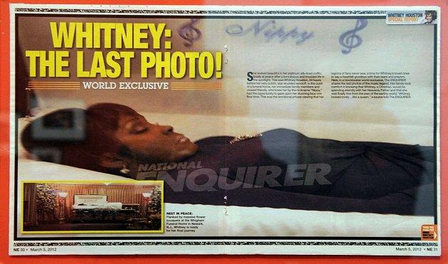 Mrtvá zpěvačka Whitney Houston