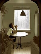O deštivém dni si můžete dát čaj u okna.