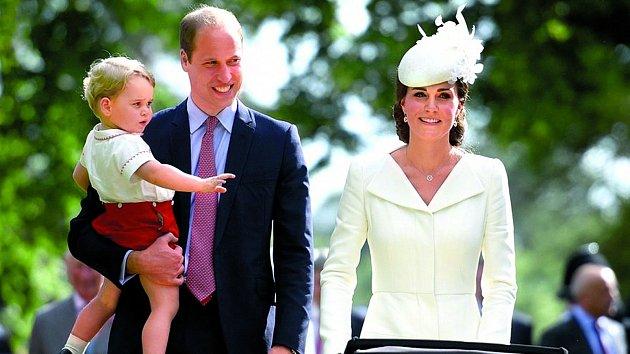 Kate s Williamem a synem Georgem