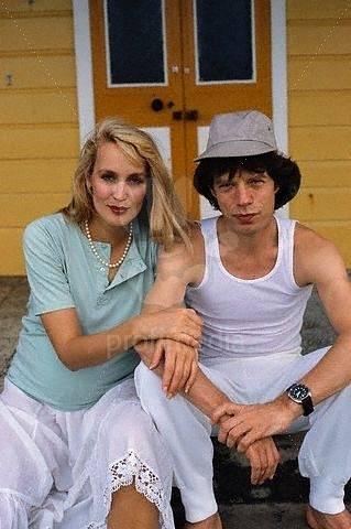 S modelkou Jerry Hall v roce 1983. Tehdy ještě nebyli svoji.