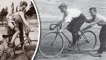 Jízda na velocipédu skýtala řadu mravních problémů.