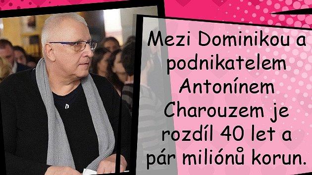 Dominika Myslivcová a její sugar daddy Antonín Charouz vkině.