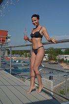 Gábina Partyšová se dobře bavila v aquaparku.