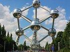 Staré známé Atomium v Bruselu v Belgii.