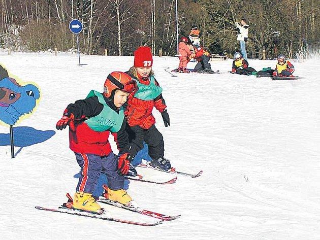 Na Klínovci se lyžovalo.