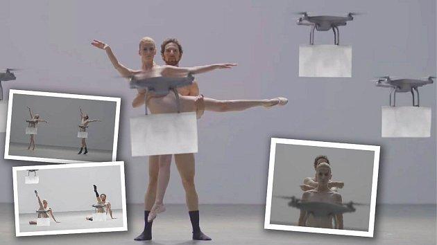 Baletní vystoupení by asi většina pánů uvítala klidně i bez těch moderních dronů...