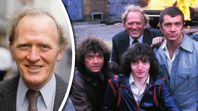 Znatáčení Profesionálů. Slavná trojka spolu sdevatenáctiletým scenáristou Stephenem Listerem.