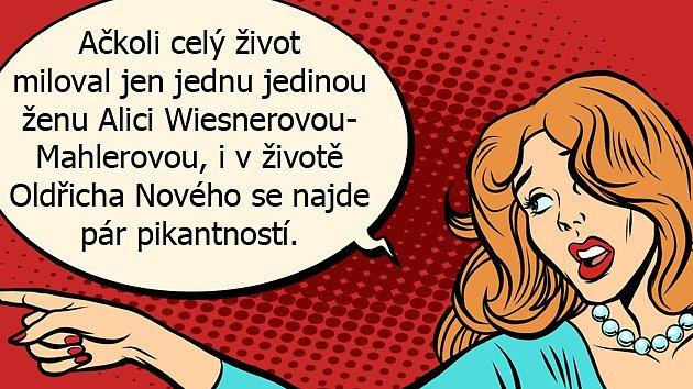 Oldřich Nový si devět měsíců po svatbě donesl domů nemanželskou dceru.