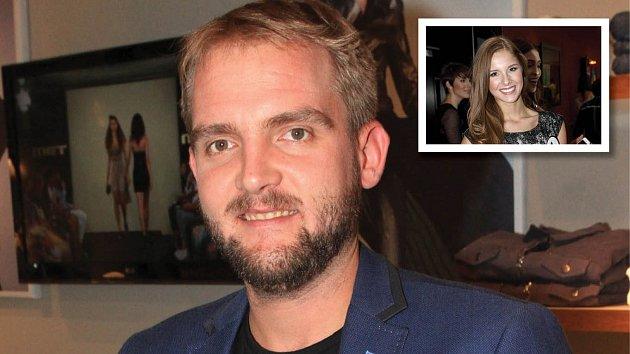 Libor Bouček randí s finalistkou Miss.
