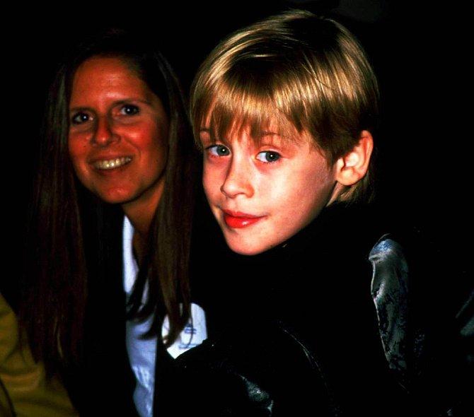 Macaulay Culkin na premiéře filmu Sám doma, 1990
