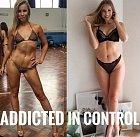 Jak vyadá tělo závislé na sportu (vlevo) a pod kontrolou (vpravo).
