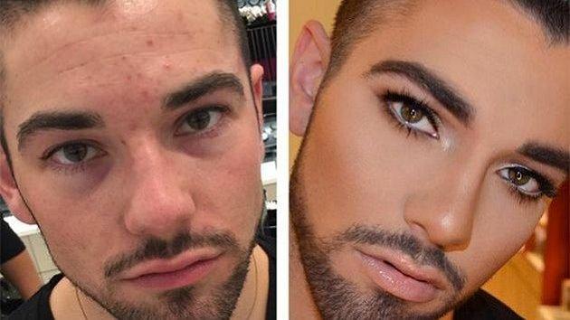 Pánove bez make-upu a s ním...