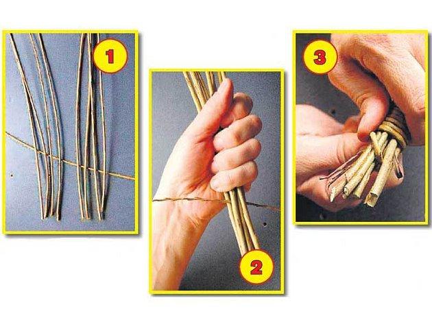 Postup při pletení pomlázky