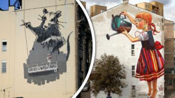 Kreativní Street art.