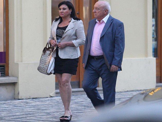 Dáda Patrasová s manželem Felixem Slováčkem