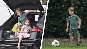 Z prince George je už velký kluk, co miluje fotbal.