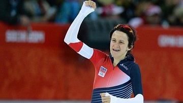 Povedlo se! Martina Sáblíková obhájila olympijské zlato na trati 5000 metrů.