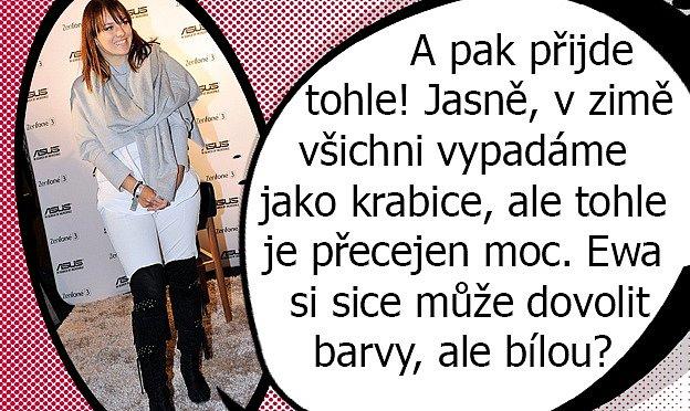 Ewa Farná a její módní kreace hýbou showbyznysem.