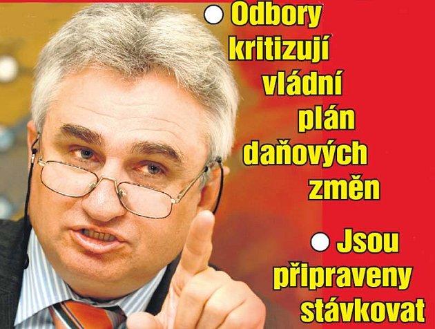 Vrchní odborář Milan Štěch