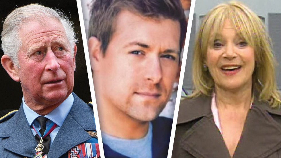 Charles má kvůli Jasonovi (uprostřed) docela problémy. Princova milenka Janet (vlevo) nechce nijak komentovat, kdo je otcem jejího syna..
