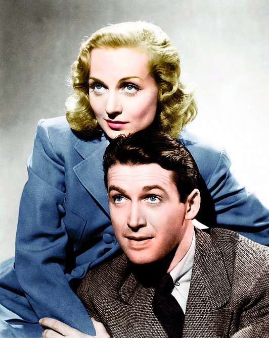 Carole aJames Stewartovi.  Dvojice zfilmu Stvořeni jeden pro druhého (1939).