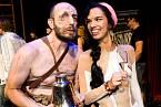 V roli Quasimoda s kolegyní z divadla.