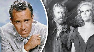Jason Robards proslul třeba jako bandita vewesternu Tenkrát naZápadě (1968). Nasnímku sClaudií Cardinaleovou.