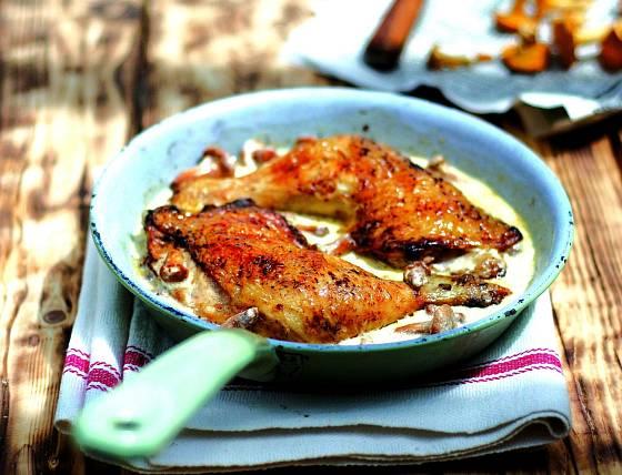 Kuře na liškách