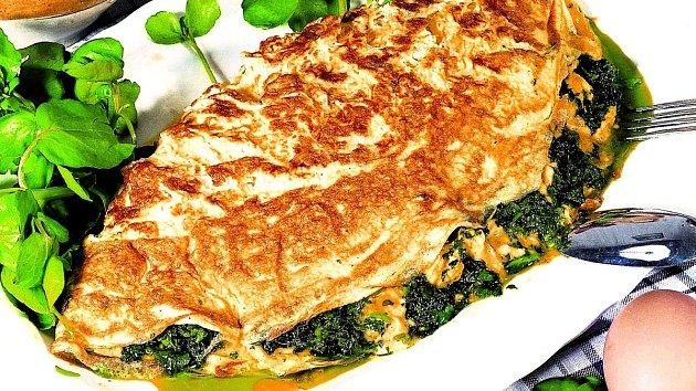 Omeleta se špenátem