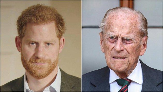Princ Harry a princ Philip